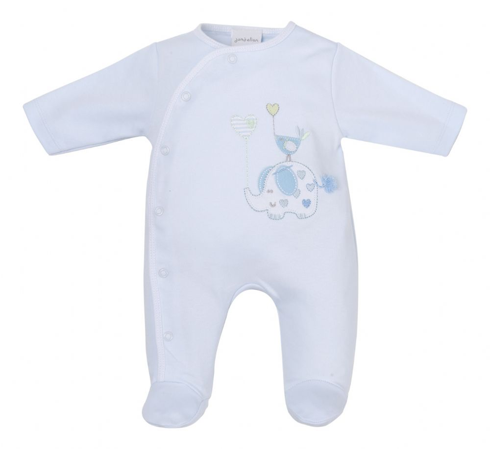 "DC3148B ""Elephant"" Cotton Sleepsuit"